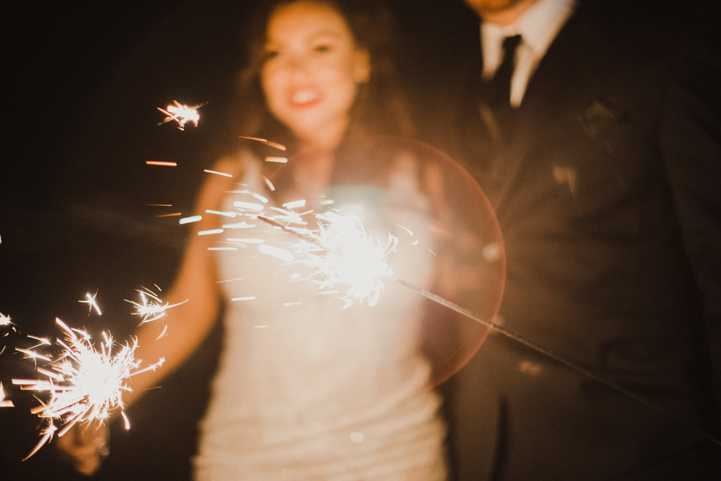 Sweet Pea Ranch Wedding Sparkler Exit