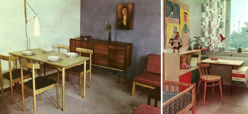 Jídelní část obývací místnosti                           Dětský pokoj s pracovním stolkem.