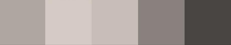 teplá taupe         světlá taupe        greige (odstín na rozhraní béžové a šedé)       tmavá taupe