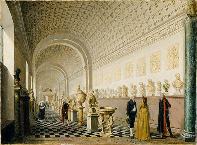 Pehr Hilleström, 'The Inner Gallery of the Royal Museum at the Royal Palace, Stockholm', 1796. Nationalmuseum, Stockholm. Creative Commons license 4.0