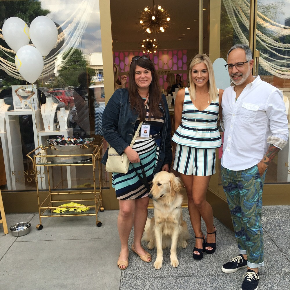 Jenna Muller of Modern Luxury hosted a Kendra Gives Back at Kendra Scott in support of Doggies on the Catwalk w/ Vincent Martinez