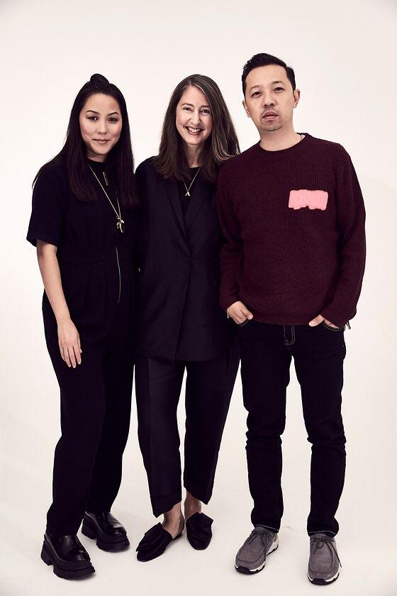 Kenzo's Carol Lim and Humberto Leon with H&M's Ann-Sofie Johansson, center. - Photo: Courtesy of Soraya Zaman