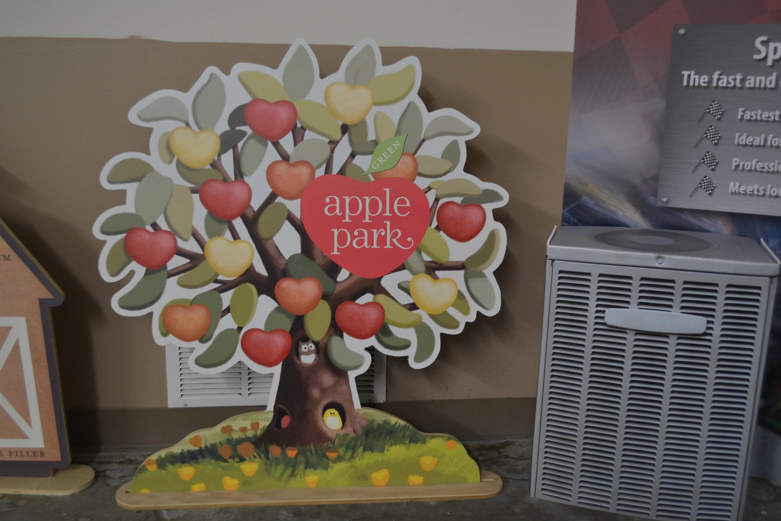 Corrugated Free Standing Display - Apple Park