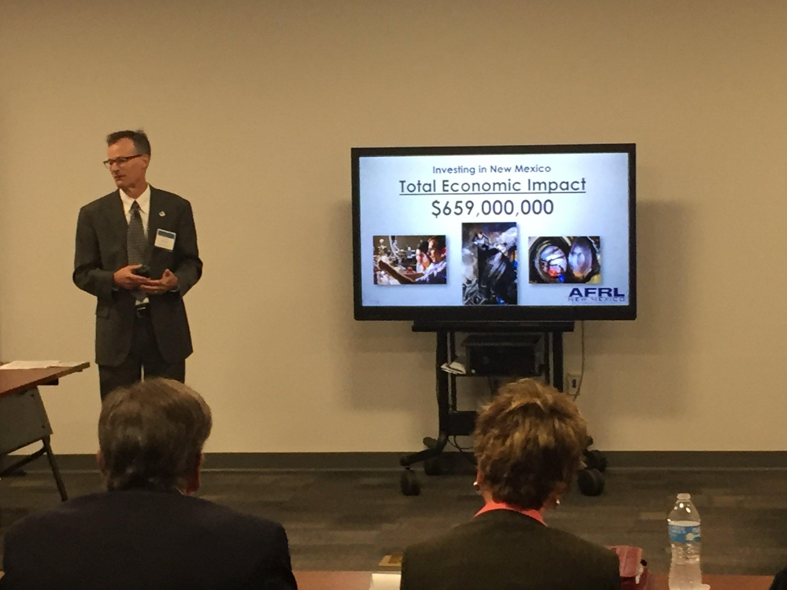 AFRL New Mexico Technology Engagement Office Director Matt Fetrow discusses new economic impact report.