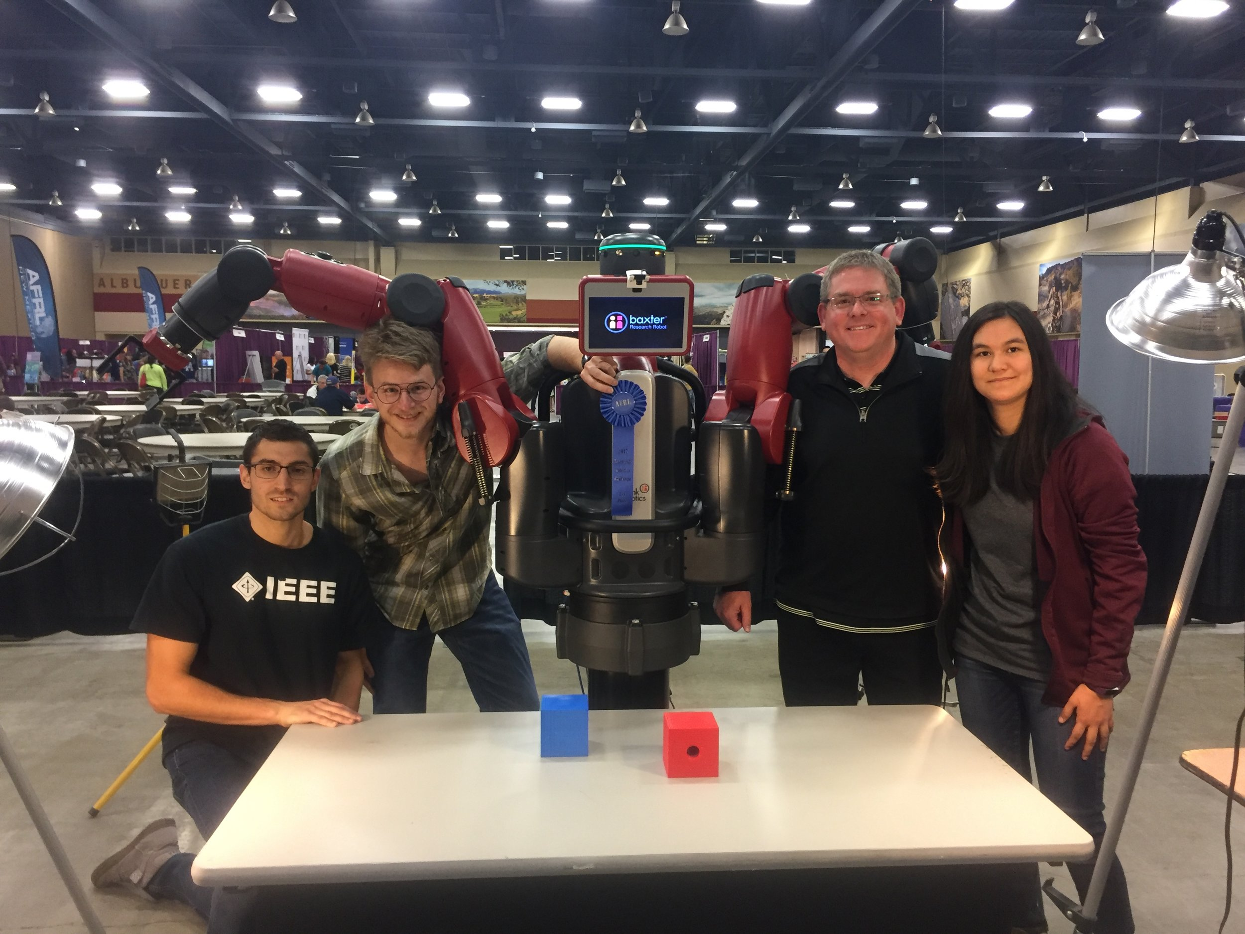 1st place team pictured: Steve Maurice, Travis Taylor, Joseph Kloeppel and Rebecca Kreitinger.