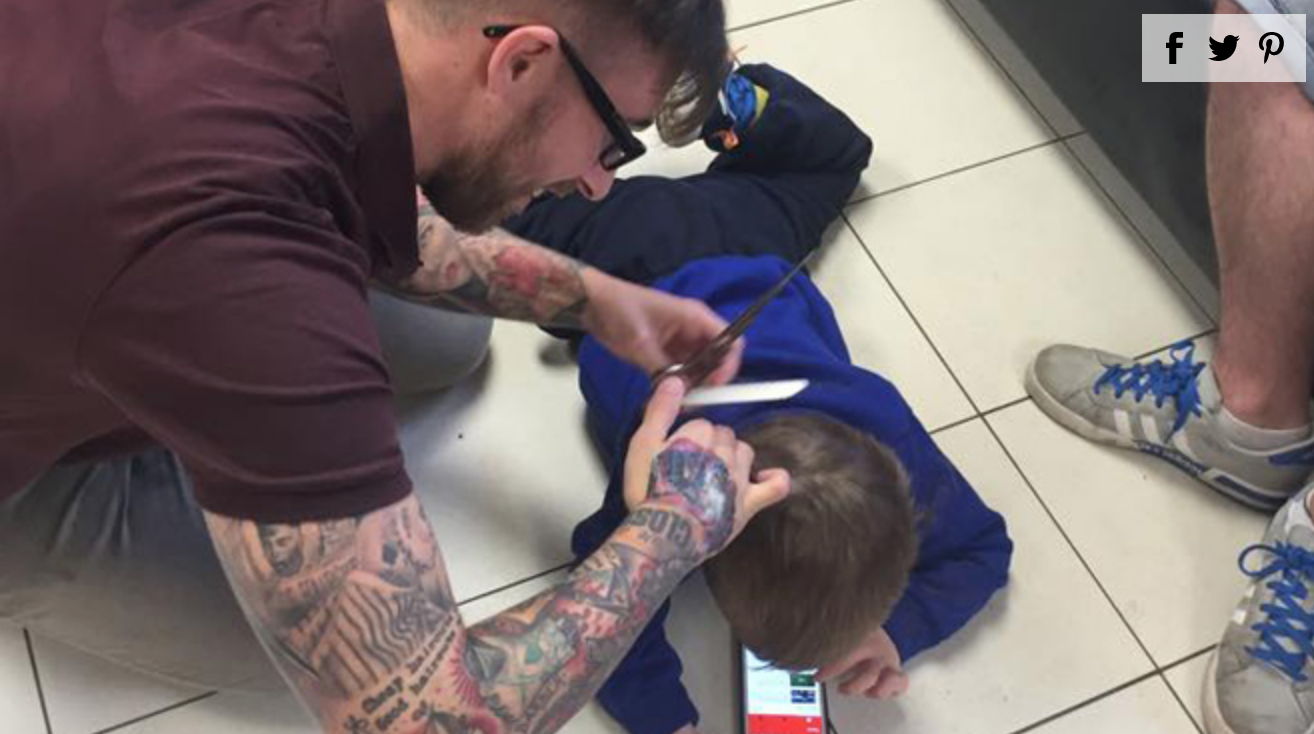 Barber Goes Above and Beyond for Autistic Boy