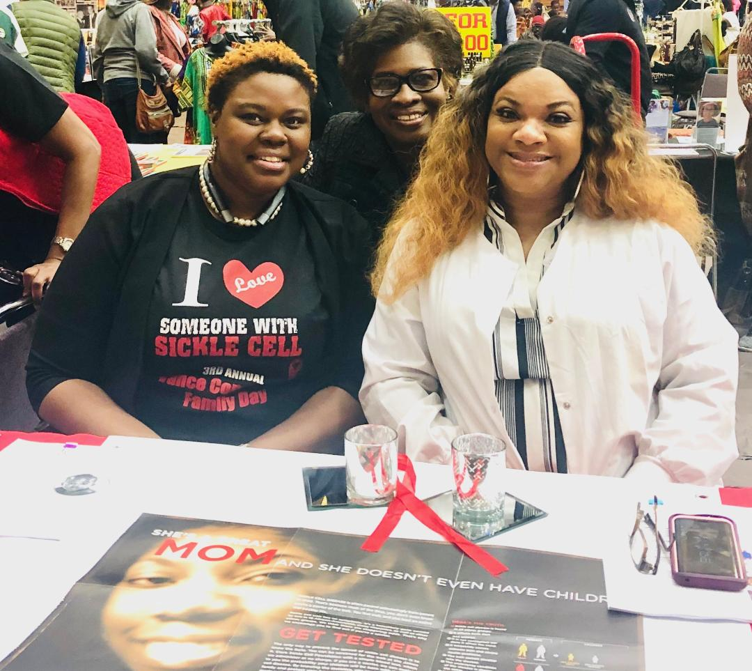 Deputy Director -Yvonne Donald, with Vesha Jamison and Tabitha Williams conducting screenings and spreading awareness at the 30th Anniversary Harambee Festival at Benedict College.