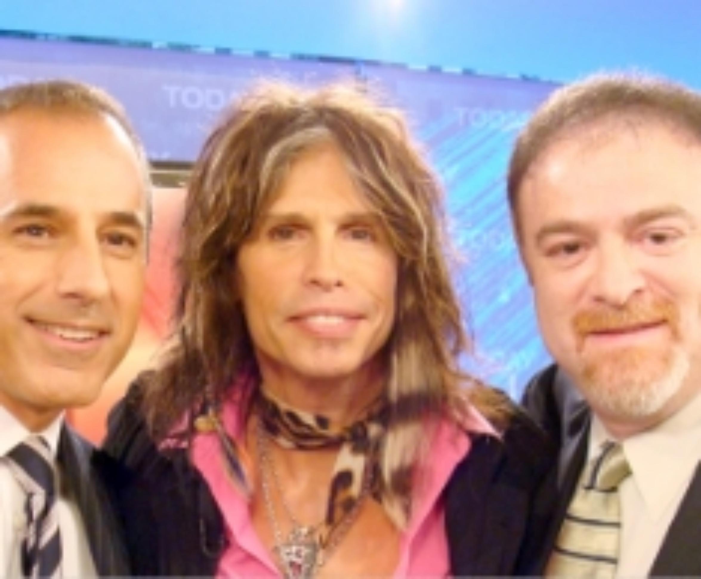MATT LAUER, STEVEN TYLER, AND DR. STEVEN ZEITELS AT NBC STUDIOS IN NEW YORK