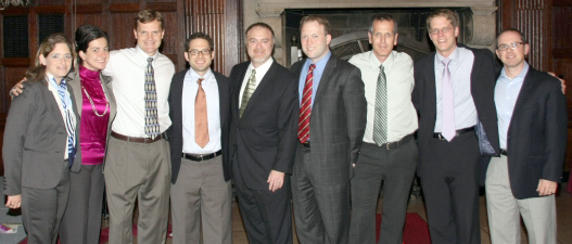 DR. ZEITELS WITH THE CLINICAL LARYNGEAL SURGERY FELLOWS.