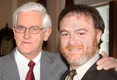 Dr. Joseph Martin, Dean of Harvard Medical School, with Dr. Steven Zeitels.