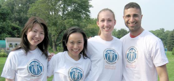 (from left) Researchers: Yoko Saikachi, Asako Masaki, Cara Stepp, and Daryush Mehta.