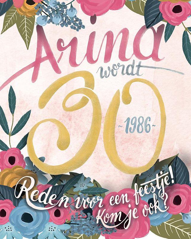 Mijn vrouw @arina_tkvv is vandaag dertig geworden! Natuurlijk hoort daar een feestje bij en dus een uitnodiging. Laat de feestvreugde maar komen!