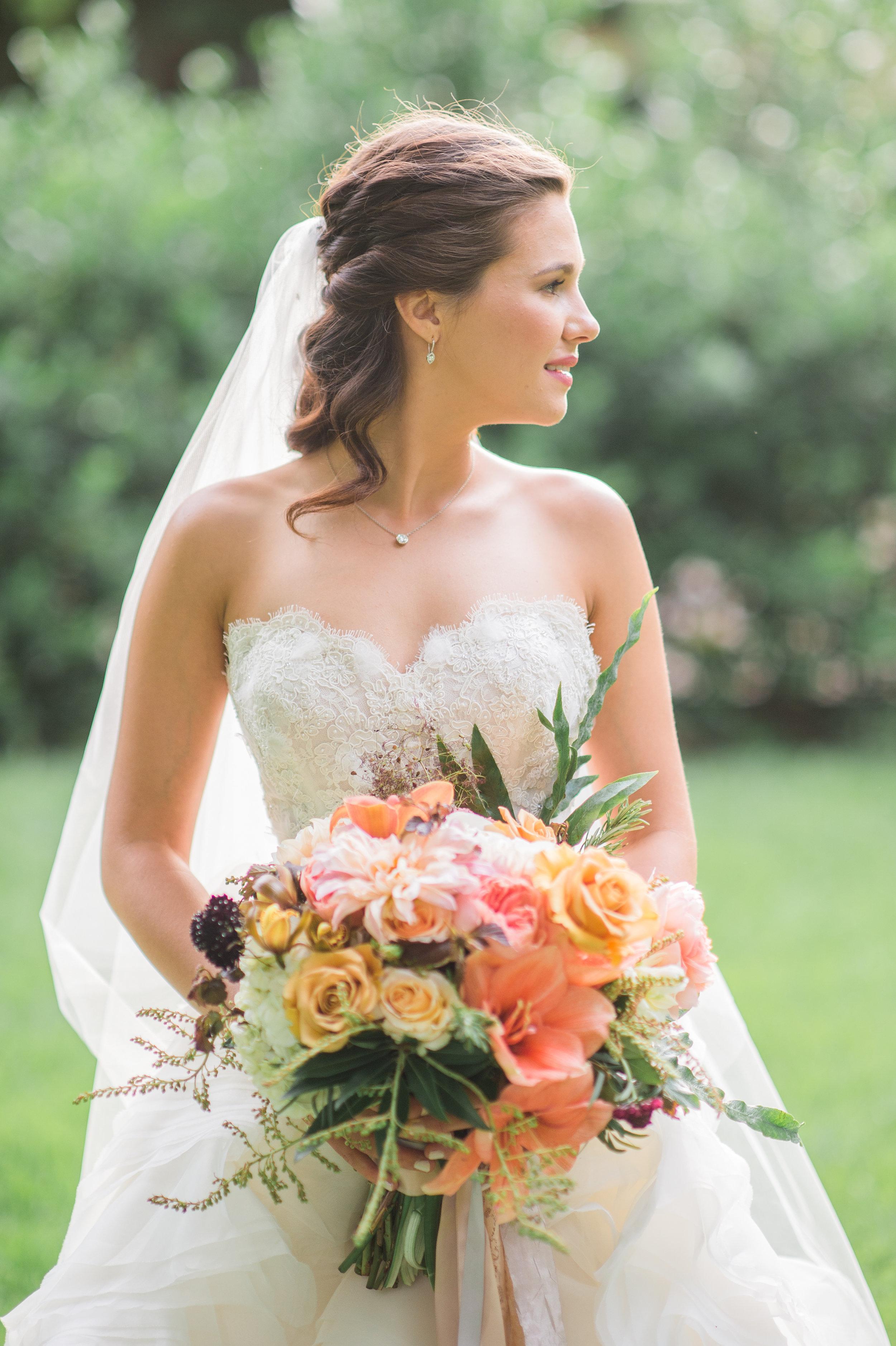 Beautiful Bridal Bouquet Amarillo TX floral design by Parie Designs