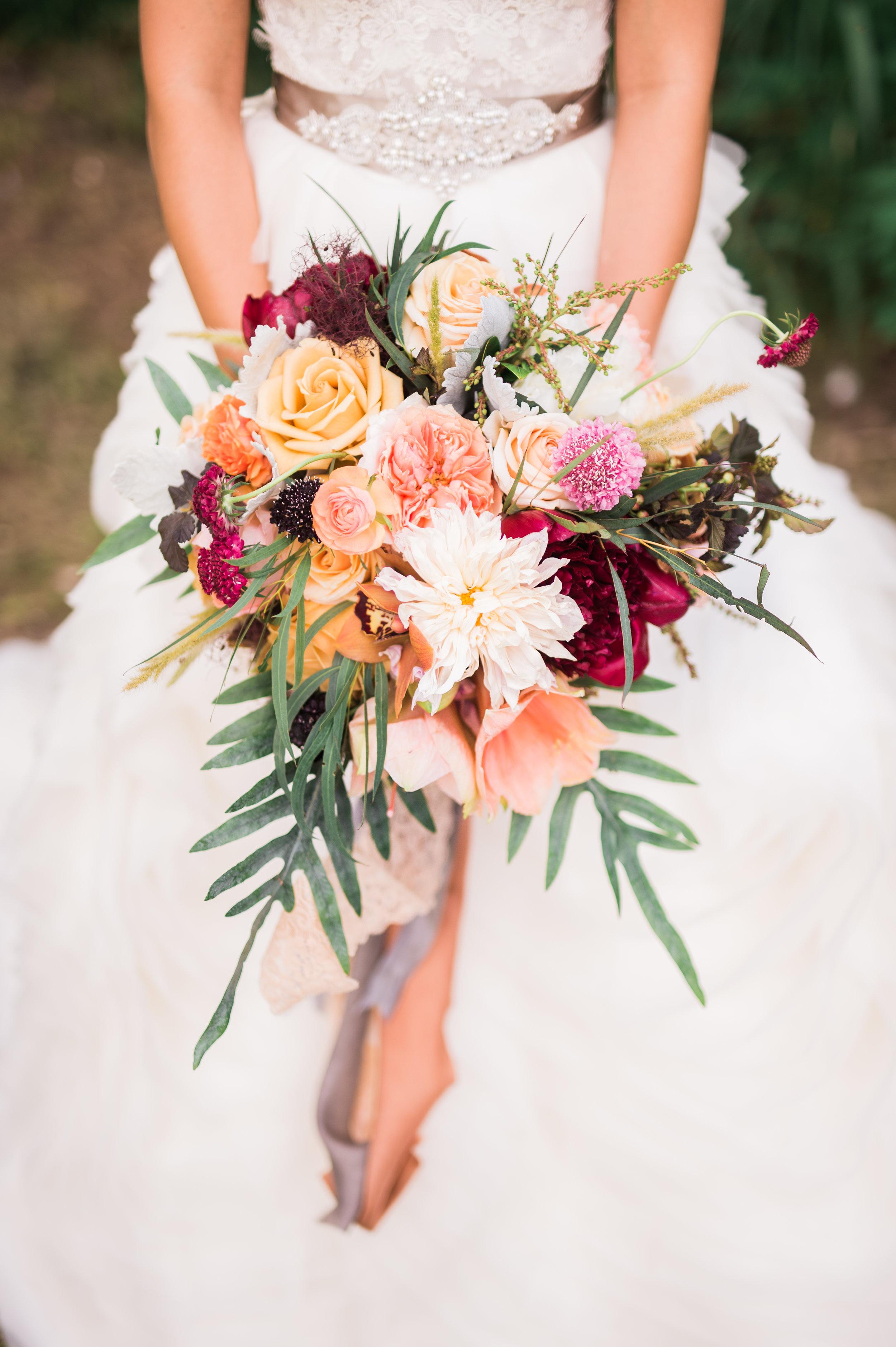 Amarillo bridal florals
