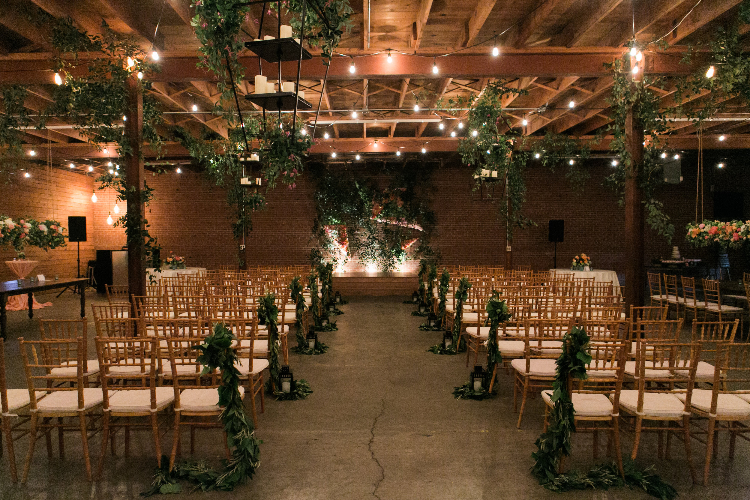 The Bowery Warehouse Amarillo's wedding event and venue. Parie designs wedding coordination and design