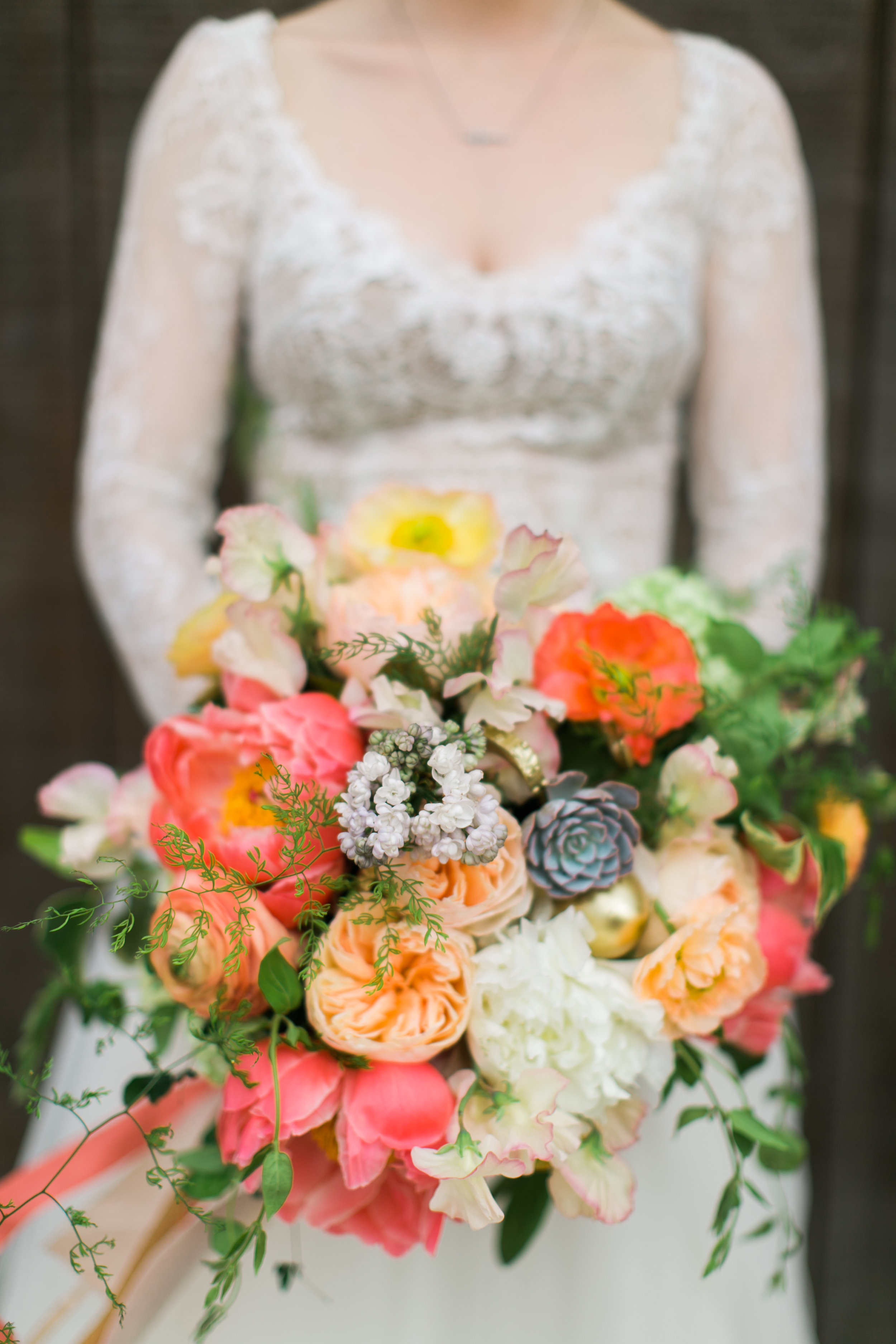 Bridal floral Bouquet, floral design by Parie Designs,