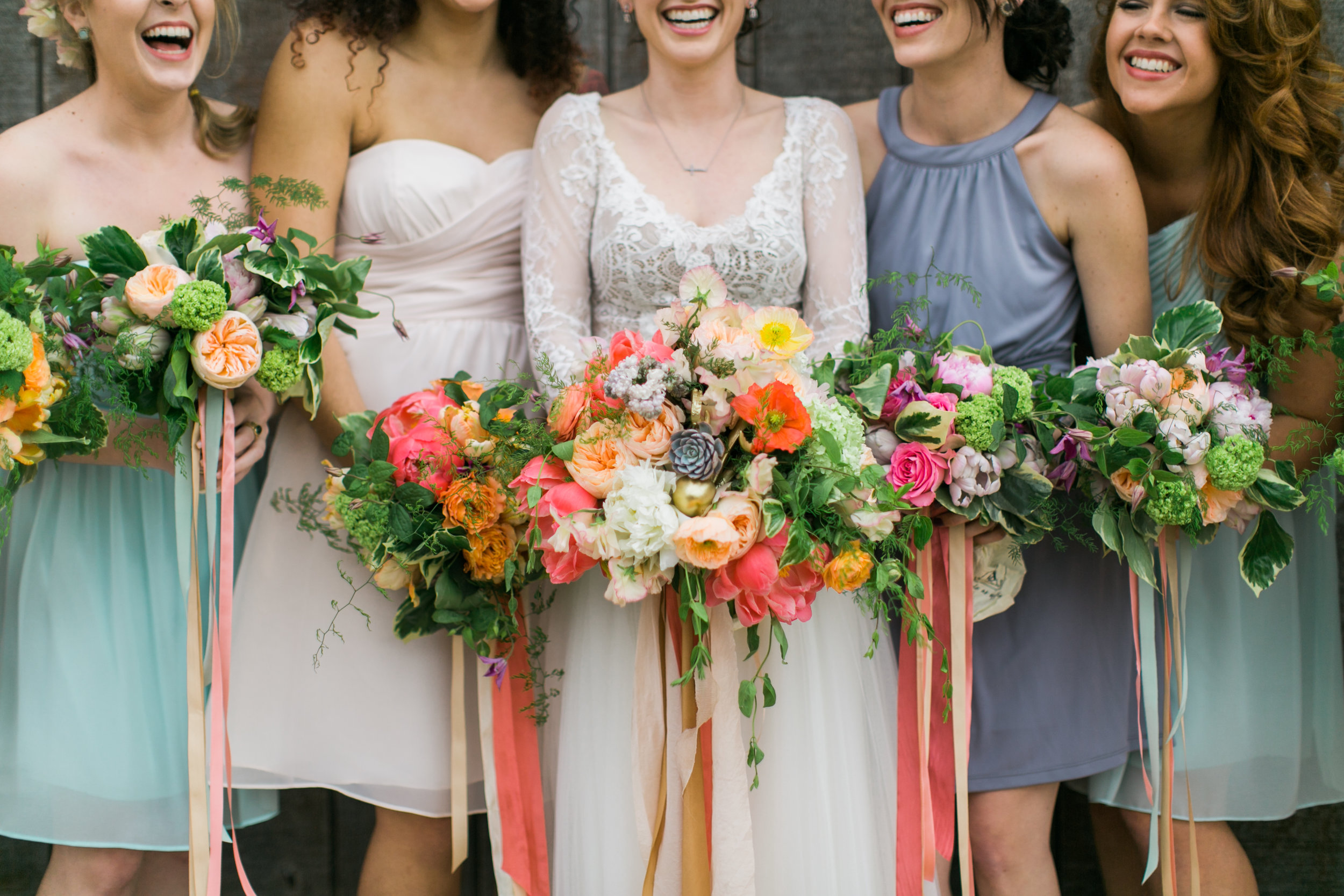 Amarillo Wedding coordination and design by Parie Designs, Bridesmaids bouquets and bridal bouquets