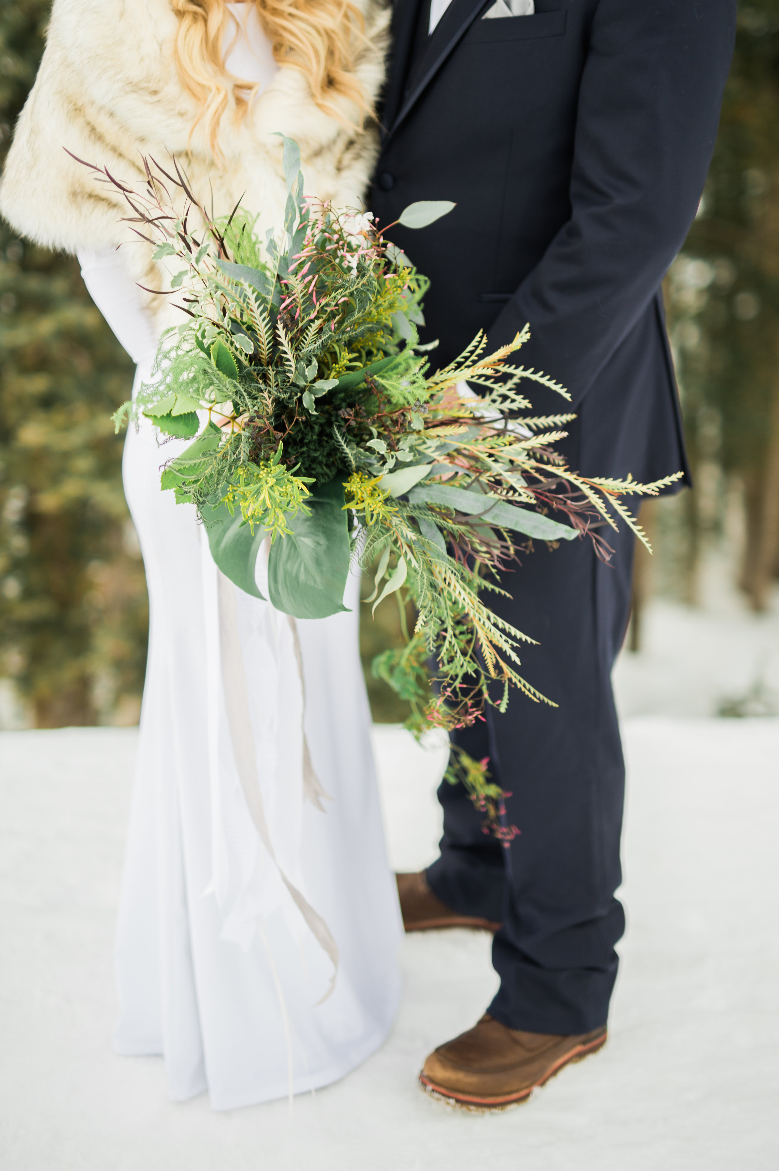 greenery bouquet by Parie Designs