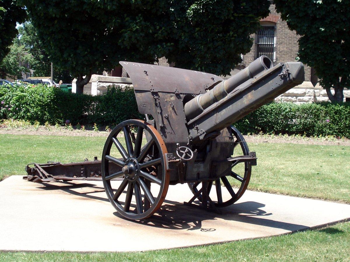 German 5.9 inch howitzer