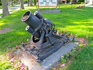 German trench mortar or minenwerfer