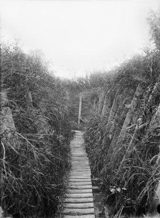 Communication Trench leading from Voormezele toward St. Eloi