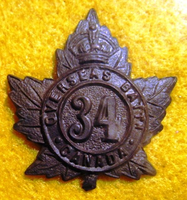 34th Battalion shoulder badge