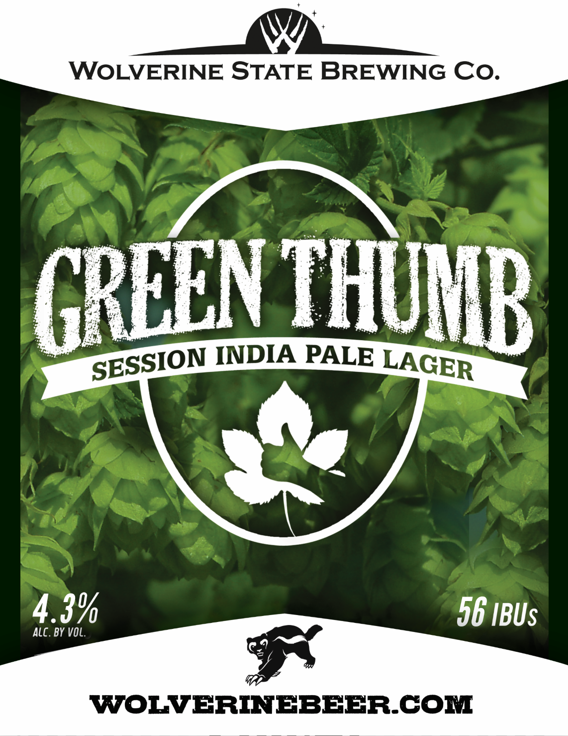 Green Thumb Beer Poster
