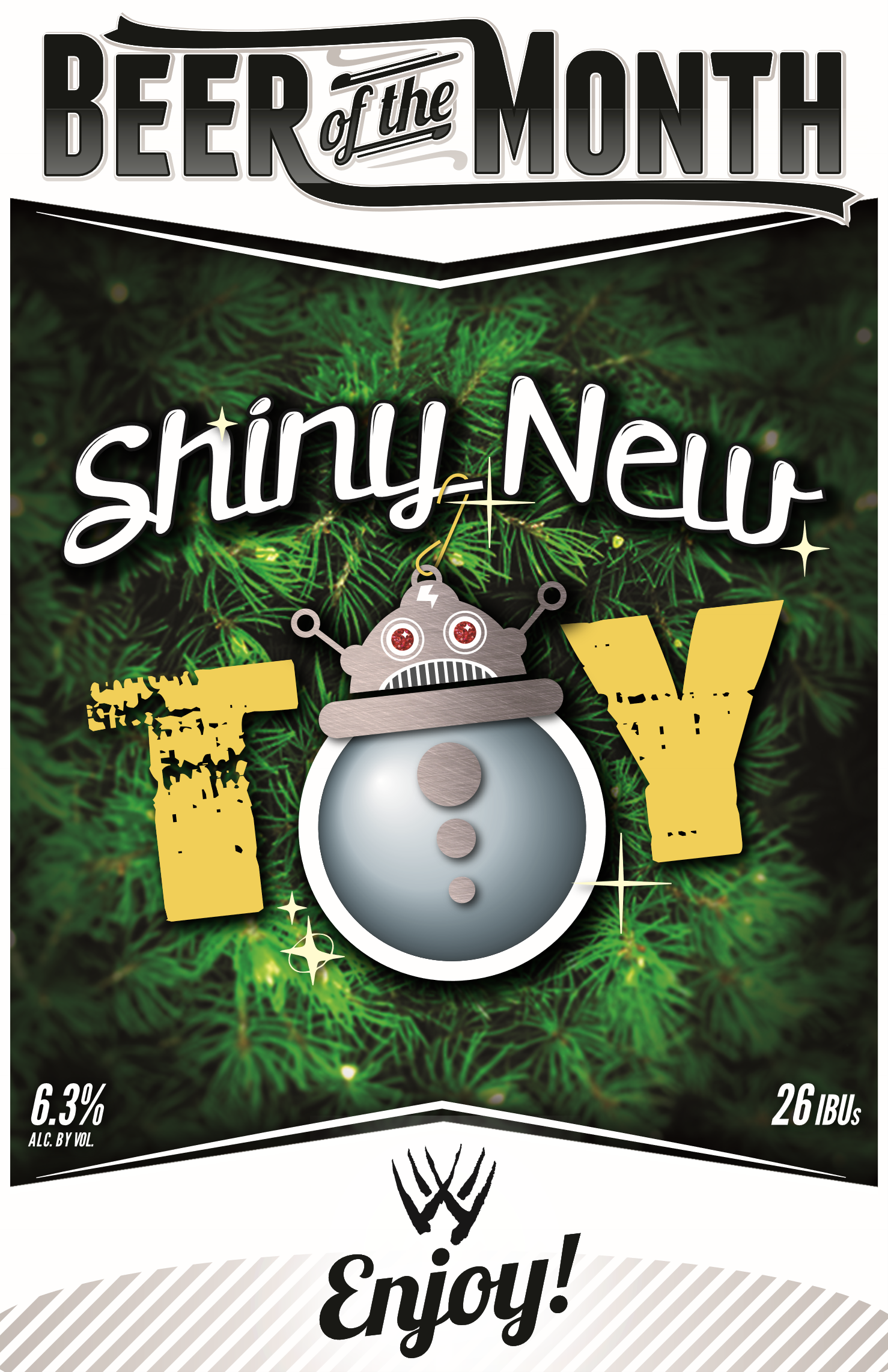 Shiny New Toy Beer Poster