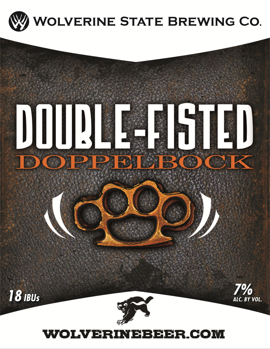 Double Fisted Beer Poster