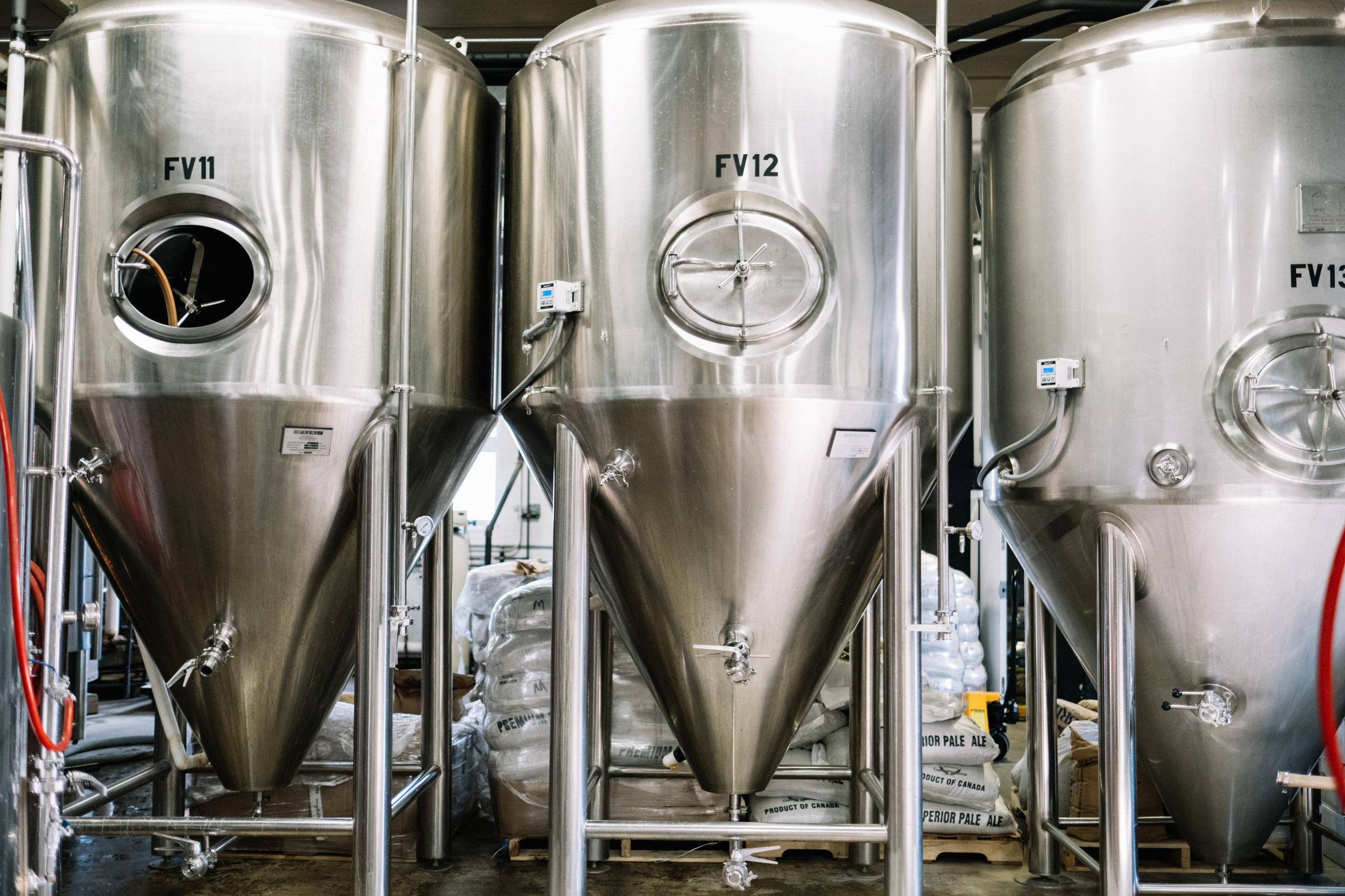 Three Fermentation Tanks