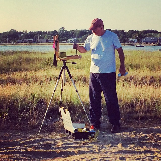 Arnie capturing disappearing light in Wellfleet, MA