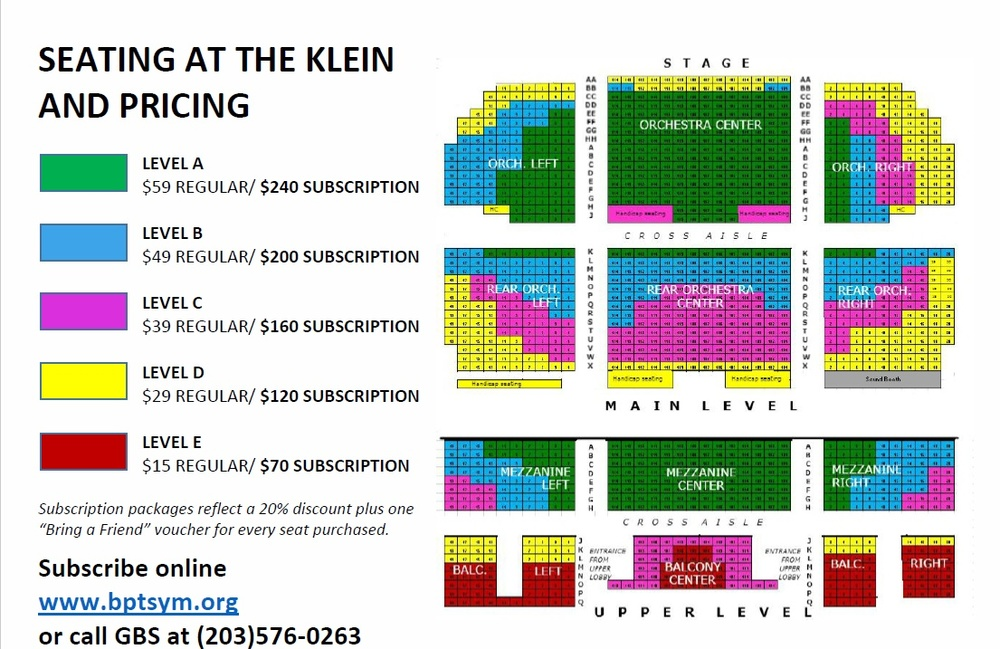 Please remember to add ticketing charges! These are fees passed on through our ticketing agent, and are necessary to keep the system running smoothly.    Please add $3 per ticket ($15 per Gold Subscription, $9 per Silver Subscription) and $1 for mailing to your order. Prices above have been held at the same level since 2013!
