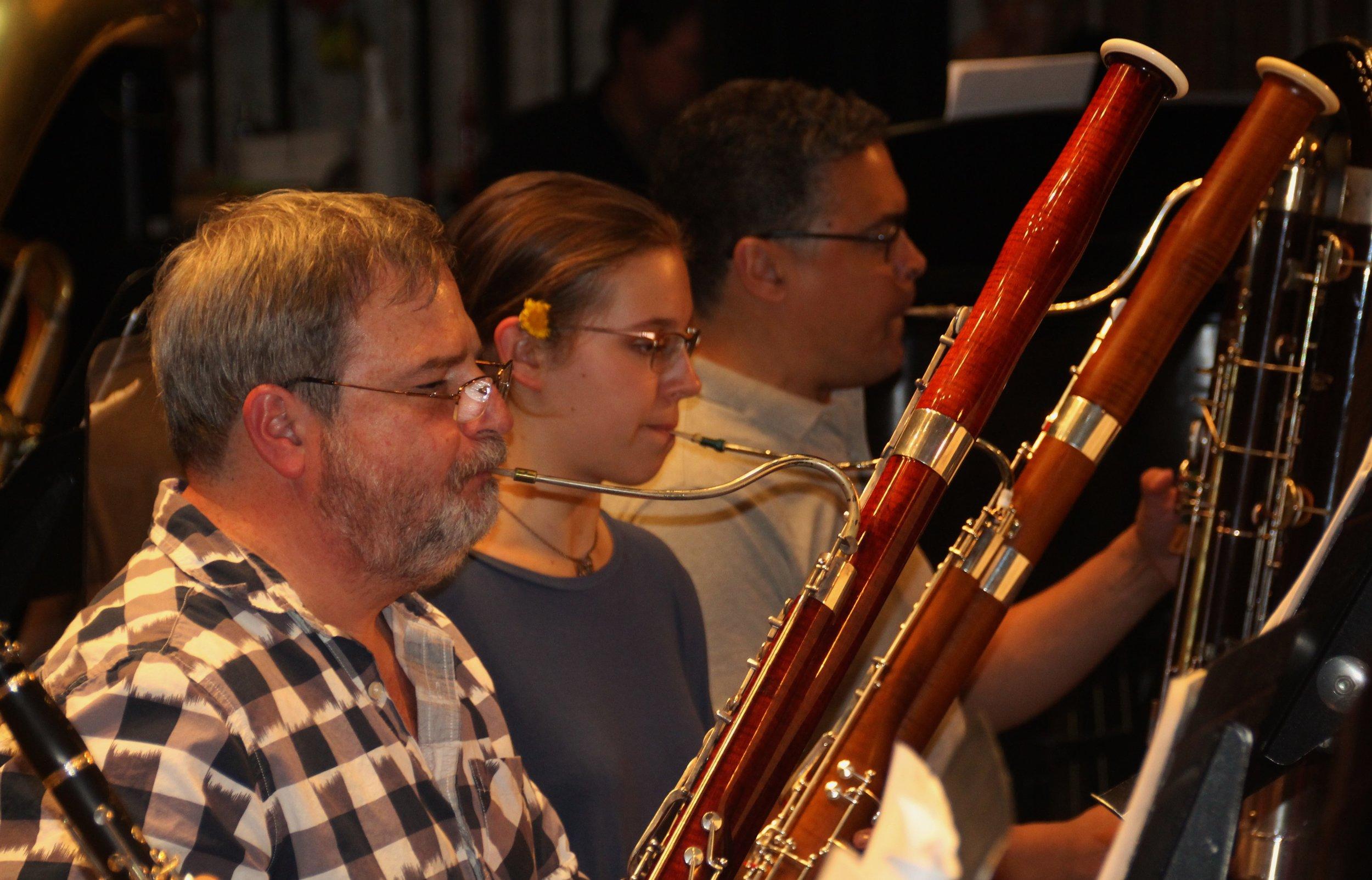 Student bassoonist Sequoia Kessler works alongside GBS professionals