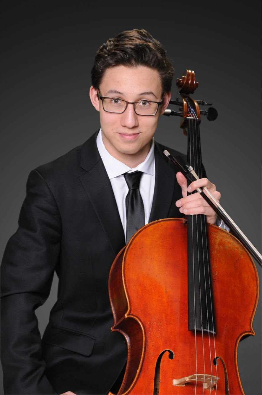 2018 First Prize winner Camden Archambeau, cellist, performed Max Bruch's  Kol Niedre  at GBS' November 10, 2018 concert.
