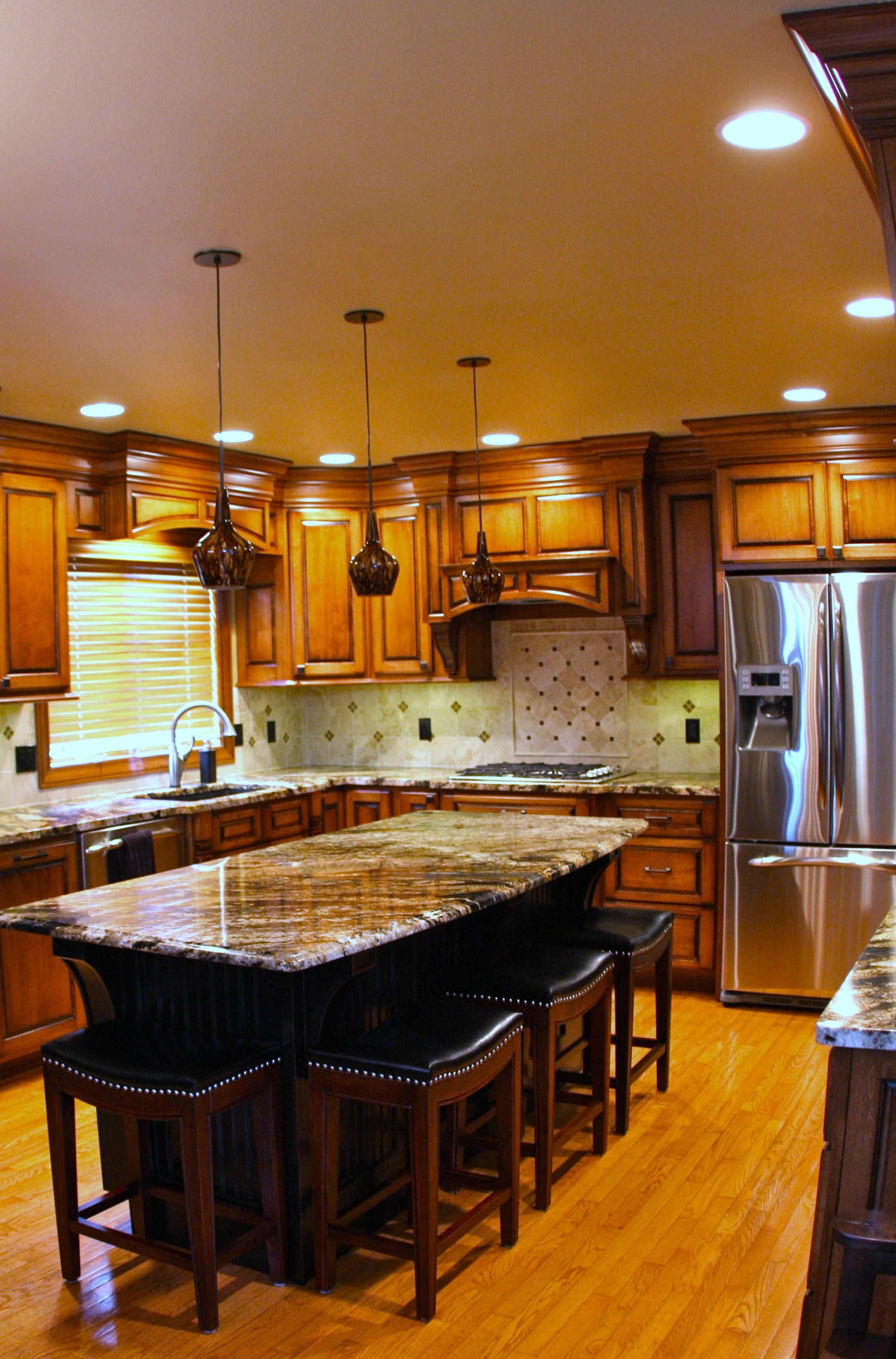 Granite countertops throughout
