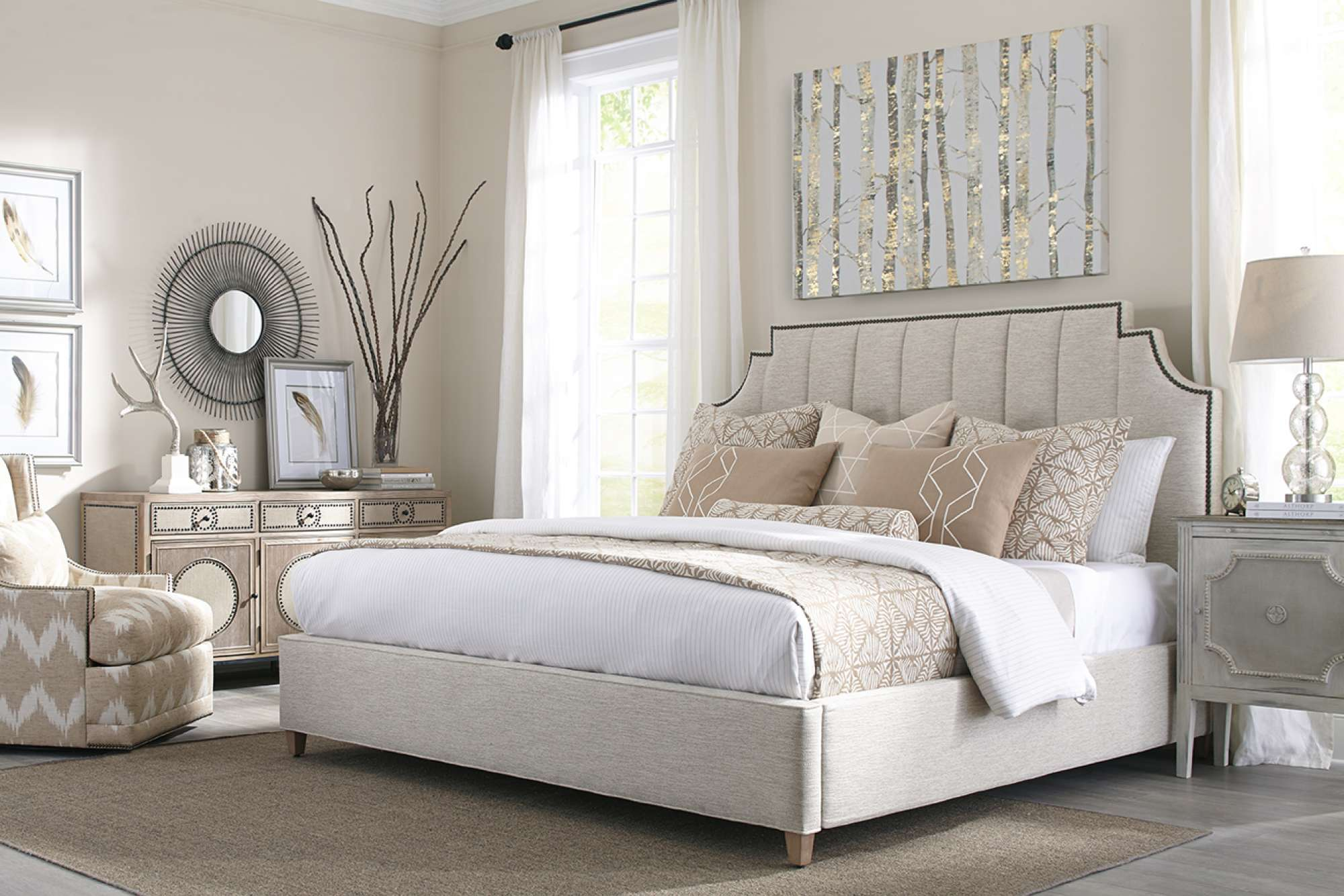 Rowe Bed and Headboard design