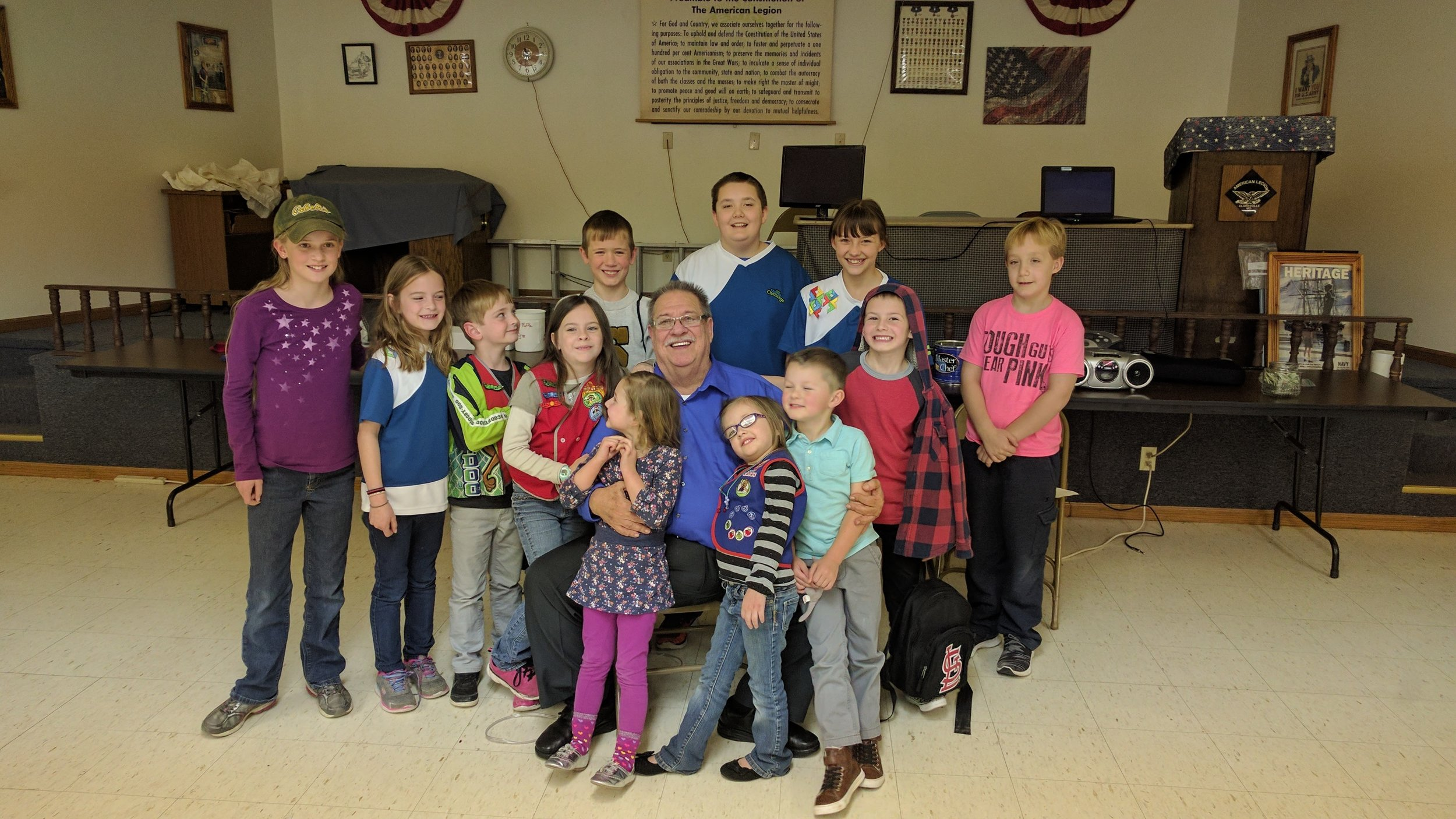 Dean Wallace with our AWANA kids.