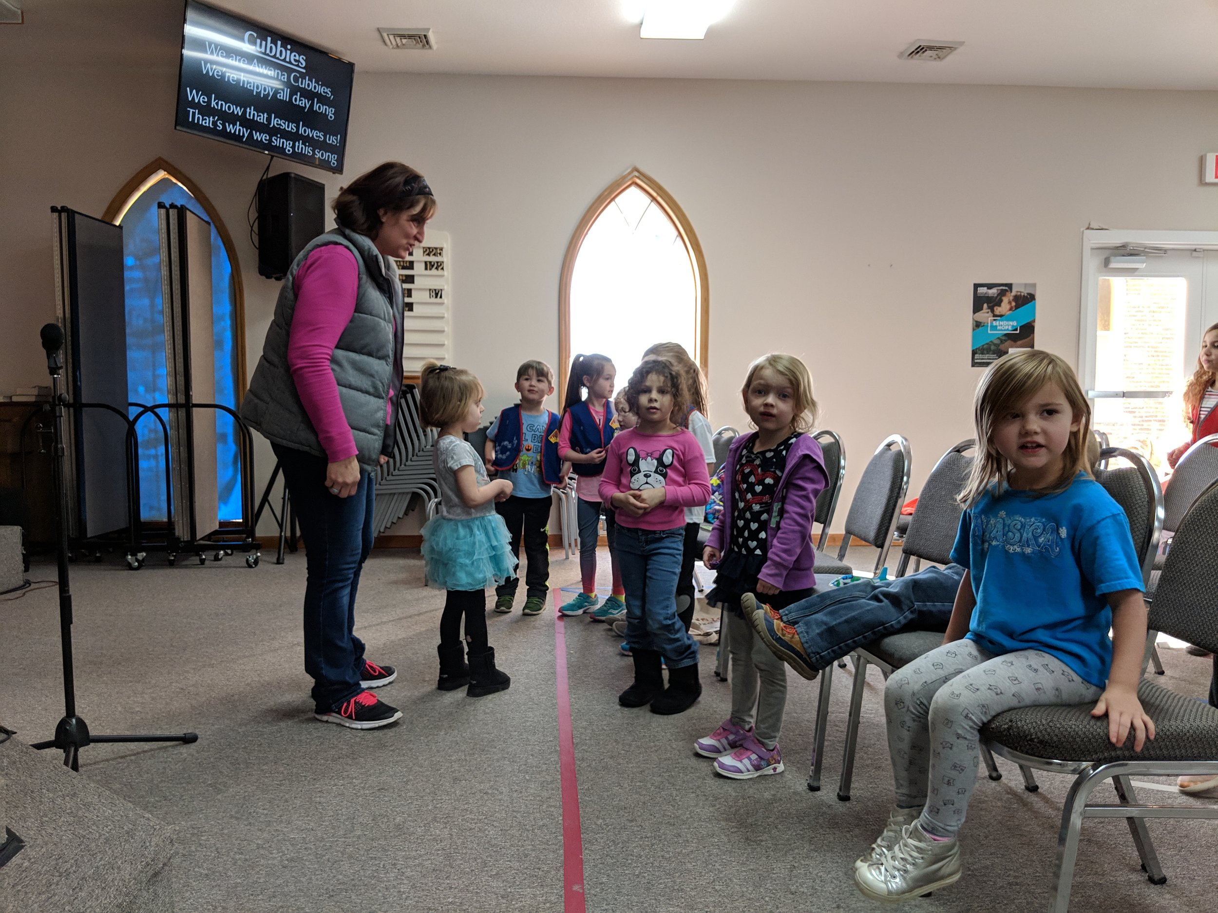 Cubbies singing their AWANA song!