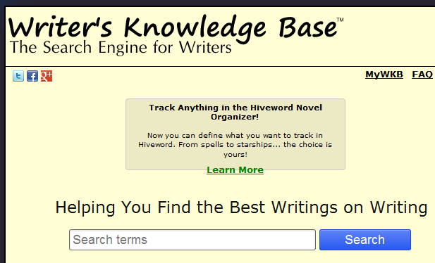 A resource base for writers.