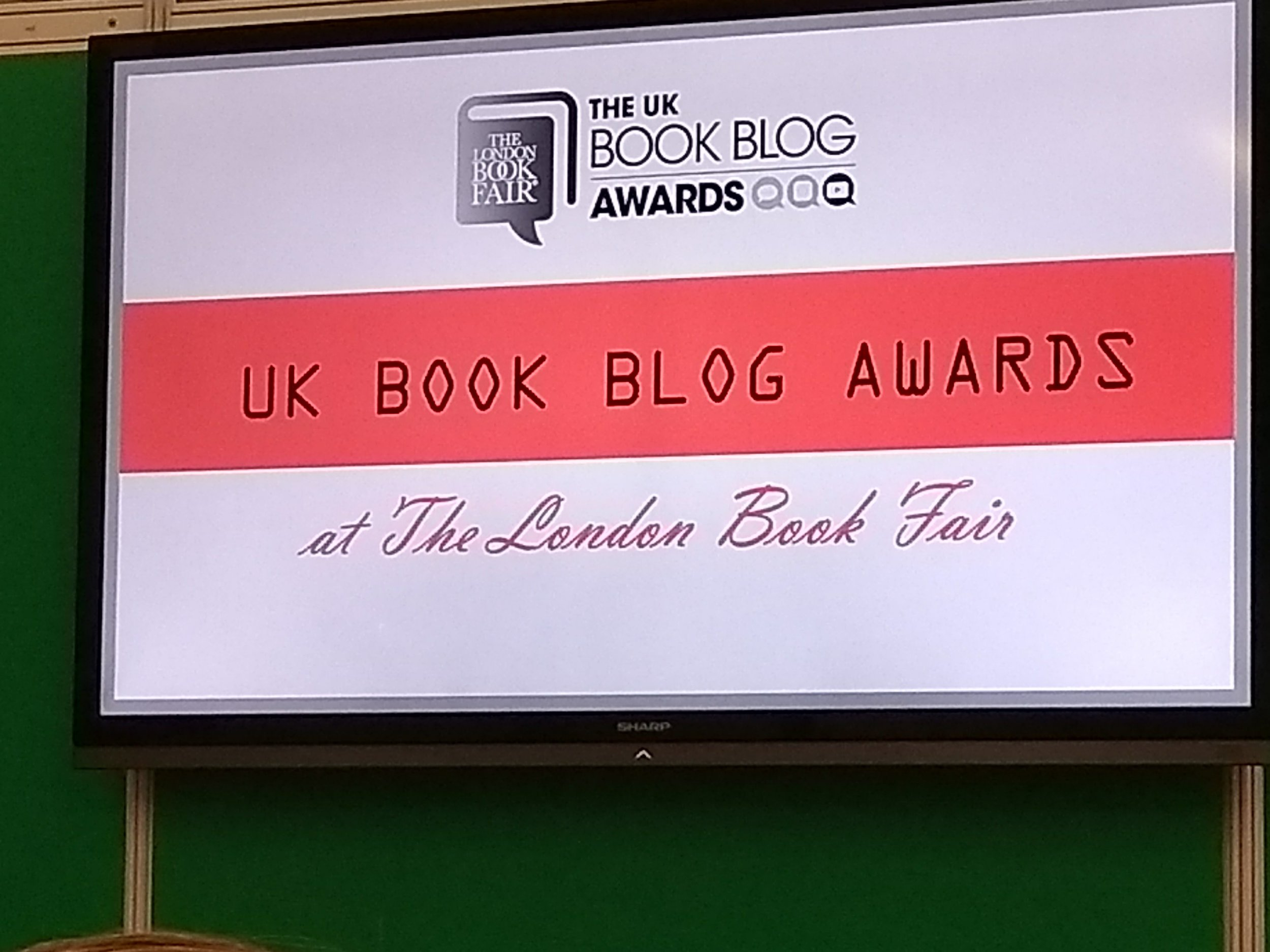 #LBF18 UK Book Blogger Awards 2018, by Terry Freedman