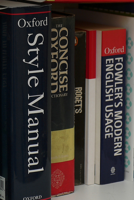 Writers' reference books, by Terry Freedman