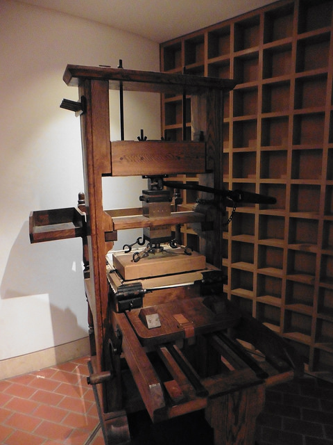 A printing press at the British Library