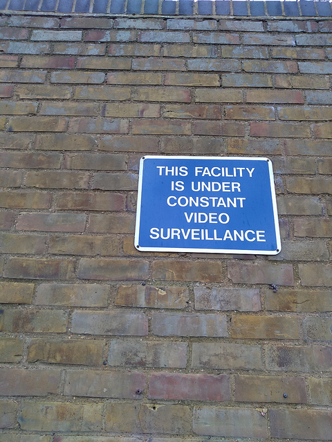 This facility is under constant video surveillance, by Terry Freedman