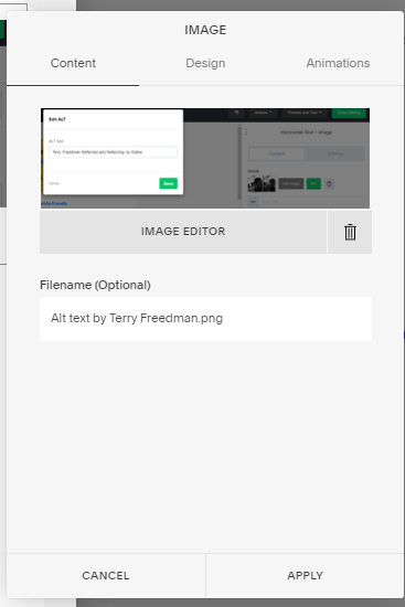 Editing Alt text in Squarespace, by Terry Freedman