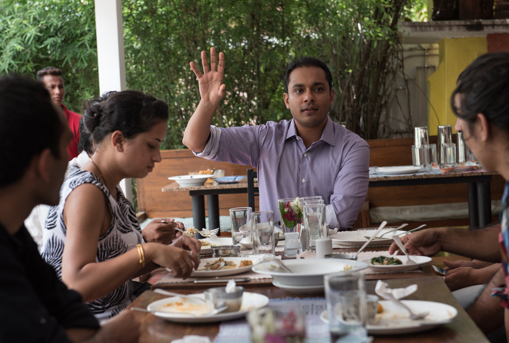 Lokesh Todi talks with us about crowd funding over lunch.
