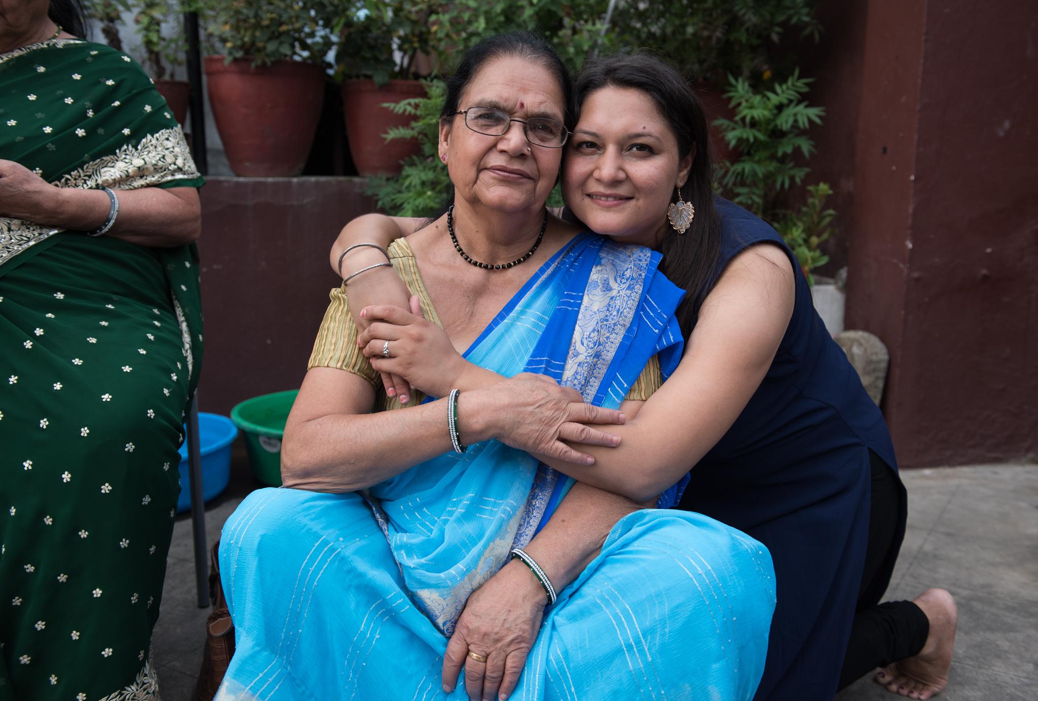 Ashmita and her grandmother.