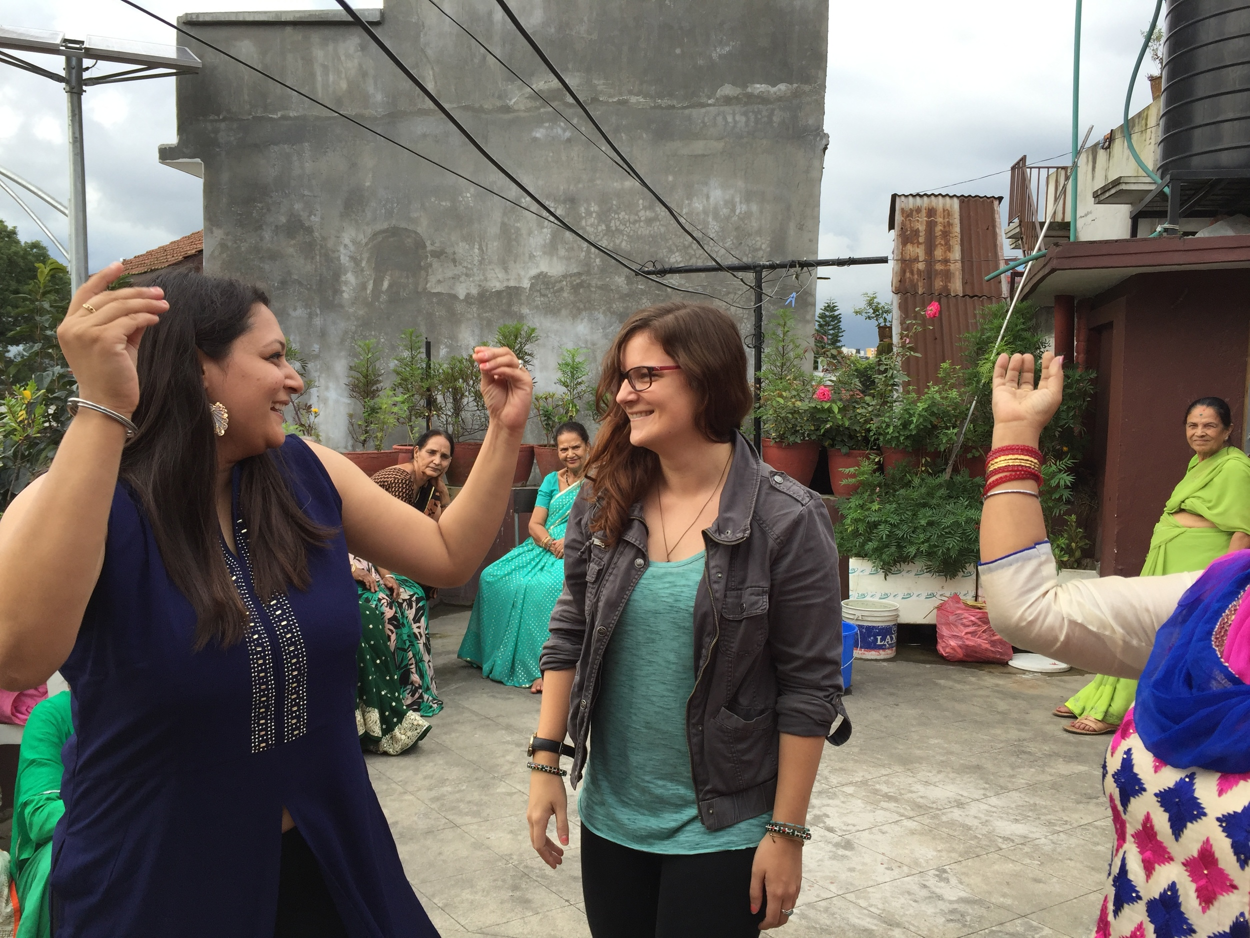 Ashmita (left) trying to teach me some Hindi dance numbers. I'm clearly a professional.
