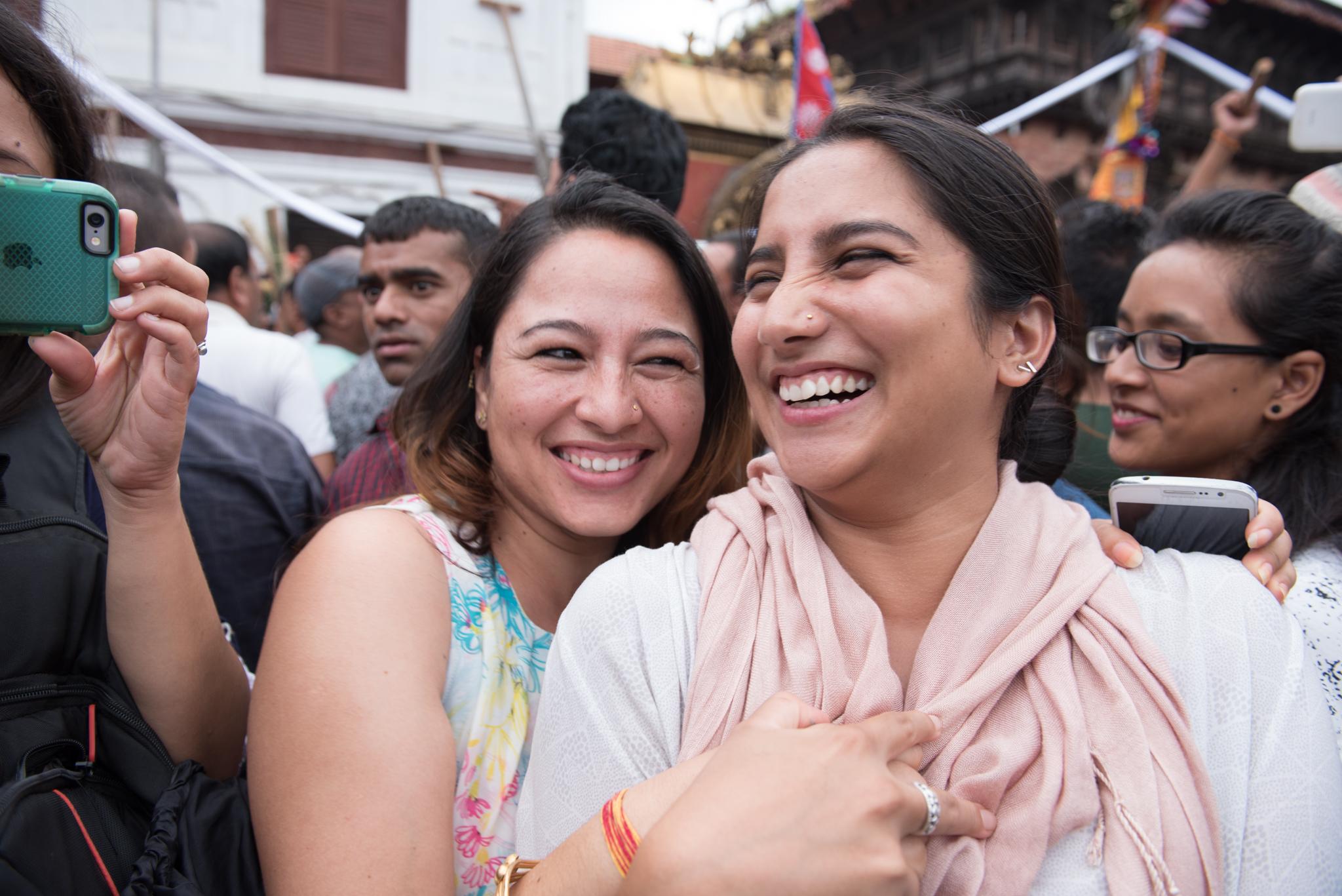From left, Kalpana and Samita.