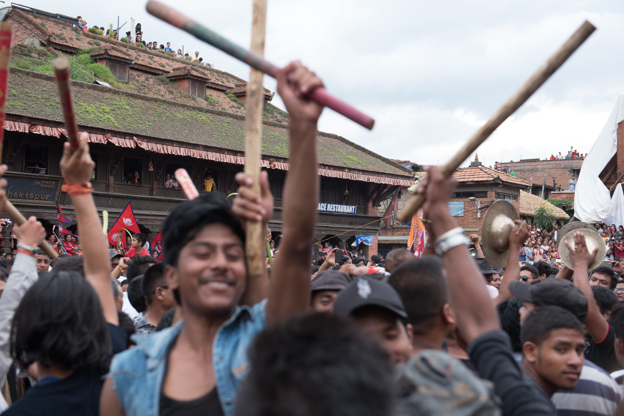 "Gai Jatra ""Cow"" Festival in Bhaktapur, Nepal on Aug. 18, 2016. (Photo by Brittany Wait)"