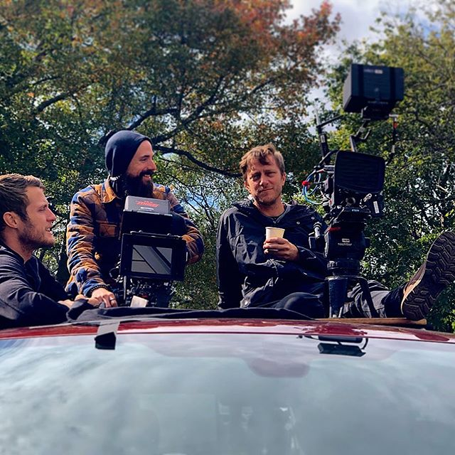A nice fall day filming on top of 🚗s. Classic @cinematthias @joeescandell @jay_hunter_1 looks right there. So happy to be working with such creative minds this month :) I'm so excited to see all our hard work come to fruition 📺 🎬#frathazemovie #nj #feature #film #cameradept